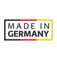 quality mark made in germany colored symbol vector image vector image