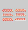 realistic 3d detailed striped awning set vector image vector image