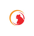 rooster logo template icon vector image vector image