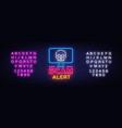 scam alert neon sign scam alert design vector image vector image
