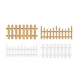 set different wood vector image vector image
