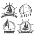 set of logos for sailing vector image vector image