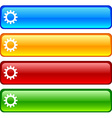 Settings buttons vector image vector image