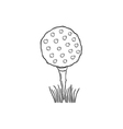 sketch of the golf ball vector image vector image