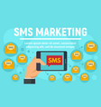 sms marketing concept banner flat style vector image vector image