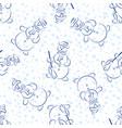 snowman pictogram seamless vector image vector image