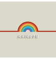 Stylish Rainbow design vector image vector image