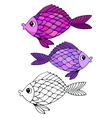 Stylized hand drawn fish 2 vector image vector image