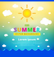 summer blurred background with seascape sun vector image vector image