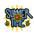 summer time summertime design on a white vector image