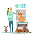 vet hospital pets vector image