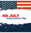 vintage style independence day vector image vector image
