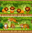 wild animal in the jungle vector image vector image