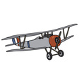 Wintage biplane vector image