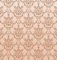 golden seamless damask pattern vector image