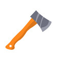 hatchet with wooden handle isolated vector image