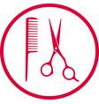 pink hairdresser sign vector image