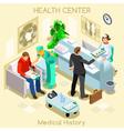 Clinic Wait Room Isometric People vector image
