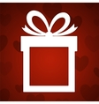 Paper gift vector image
