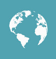 save the world symbol vector image
