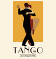 1920s tango poster elegant couple dancing tango vector image vector image