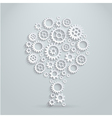 3d concept mechanical tree made of gears vector image vector image