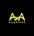 aa bridge architecture logo design letter