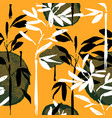 abstract asian bamboo art seamless pattern vector image