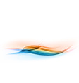 abstract shape blue and orange wave vector image vector image