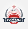 american football league logo sport design vector image