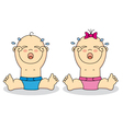 babies crying vector image vector image