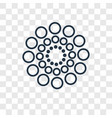 big and small dots concept linear icon isolated vector image