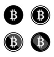 bitcoin symbols icons logos black with white set vector image vector image