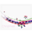 Blurred wave line with snowflakes Christmas