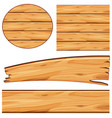 board design with wooden board in different shapes vector image