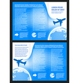 brochure design airplane flight tickets air fly vector image vector image