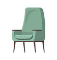 chair cute furniture armchair and seat pouf design vector image vector image