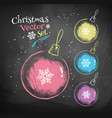 Color chalk drawn Christmas balls vector image vector image