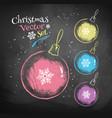 color chalk drawn christmas balls vector image vector image