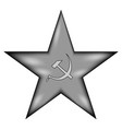 communism star sign icon vector image vector image