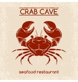 Crab seafood emblem template vector image vector image