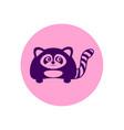 cute raccoon circular icon vector image vector image