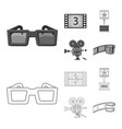 design of television and filming symbol vector image vector image