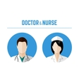 Doctor and nurse icons vector image vector image