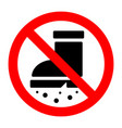 entrance to dirty shoes is prohibited sign vector image