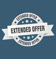 extended offer ribbon extended offer round white vector image vector image