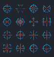 futuristic optical military aims gun targets vector image vector image