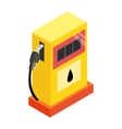 Gas station isometric 3d icon vector image