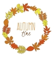 Hand-drawn garland with autumn leaves vector image