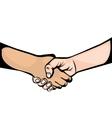 hand shake symbol icon vector image vector image